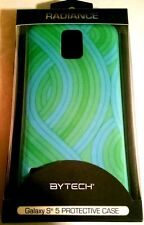 ByTech Galaxy S5 Compatible Hardshell Protective Cover with Green/Blue Swirl