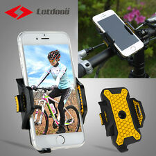 LETDOOO Cycling Bike Bicycle Phone Holder ABS Black Yellow Adjustable Plus Size