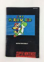 Super Mario World SNES Game Instruction Booklet Manual - Super Nintendo
