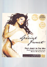 Pub publicité Cartonnée Plastifiée Janet Jackson / Ok Mec