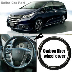 Car Interior Non-slip Black Carbon Fiber Steering Wheel Cover For Honda Odyssey