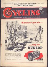Vintage Cycling Magazine 8th Dec 1949 Competition Record Tables for 1949 (BB 2)