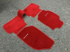 For 1988-1991 Honda Civic EF 4 Door Wagon / Sedan Floor Mats Carpet Red 4 Pcs.