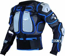 PETTORINA AXO AIR CAGE NERO/BLU MOTO CROSS ENDURO OFF ROAD TAGLIA S