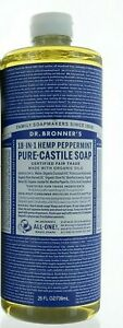 Dr. Bronner's Pure Organic Hemp Peppermint Castile Soap 18-in-1 25oz bottle