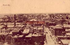 1910 AURORA, ILLS.  aerial view Boston Store General Merchandise in foreground