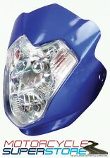 UNIVERSAL AURA MOTORCYCLE MOTORBIKE STREETFIGHTER STYLE HEADLIGHT FAIRING BLUE