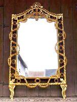 EN PROMO: Miroir style baroque bois massif doré à la feuille d'or d'un château