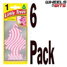 6 x Magic Tree Bubble Gum Scent Little Trees Car Home Air Freshener Freshner