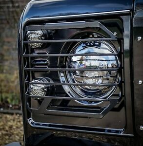 Land Rover Defender Stainless Steel Renegade Headlight Guards - Uproar 4x4