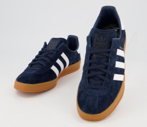 ADIDAS Broomfield Navy White Gum Trainers UK 11