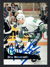 Jim McKenzie #391 signed autograph auto 1991-92 Pro Set Hockey Trading Card