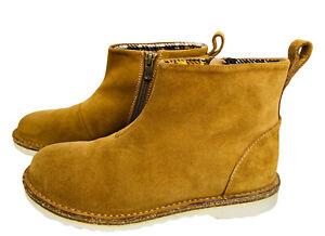 Birkenstock Melrose Espresso Suede Ankle Boot White Soles Size 37