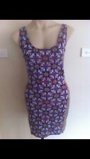 Ladies BILLABONG Dress Size 10 Summer Short Sleeveless Stretch Pattern