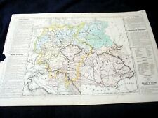 OLD MAP~Th. LEBRUN & A. LE BEALLE~ca 1860~EUROPE CENTRAL~CENTRAL EUROPE