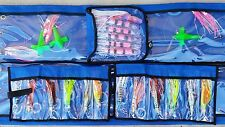 "12x 6"" Game Fishing Trolling Lures & 2x Spreader Bar Teaser Squid Dredge Marlin"