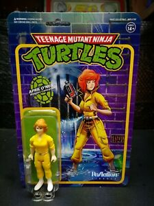 """Super 7. TMNT April O' Neil 3.75"""" ReAction Figure. Nice Brand New Package. 2020"""