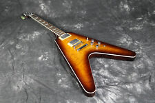 Starshine Flying V Electric Guitar Quilted Maple Top Tabacco Color Free Shipping