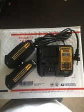 NEW!!DeWALT 20V Lithium-Ion 2-1.5A-DCB201-Batteries AND DCB107-Charger-Combo