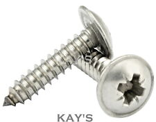 FLANGED SELF TAPPING SCREWS A2 STAINLESS STEEL FLANGE HEAD TAPPERS No.6 8 10 12