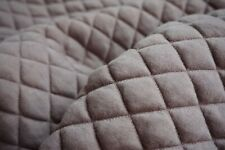 Breakfast in bed tray with structured quilted patern pillow in pastel taupe