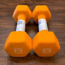 CAP Hex Neoprene 8 lb Pound Pair Dumbbell Exercise Weights Ships Today!