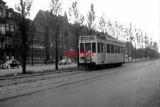PHOTO  BELGIUM TRAM 1959 NR PLACE ROGIER SNCV SNCV STANDARD TRAM  NO 10217 ON RO