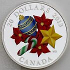 Canada 2013 $20 Venetian Murano Glass Candy Cane, 1 oz. Pure Silver Proof Coin