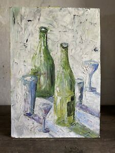 Mid Century French Oil Painting. Signed WINKLER, PARIS 1962