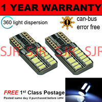2X W5W T10 501 CANBUS ERROR FREE WHITE 24 SMD LAMPADE LUCI POSIZIONE LED
