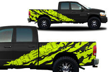 Vinyl Decal Graphic Wrap Kit fits 2002-2008 Dodge Ram 6.5 Bed HEMI SHRED Yellow