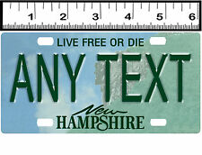 CUSTOM PERSONALIZED ALUMINUM BICYCLE MINI STATE LICENSE PLATE-NEW HAMPSHIRE