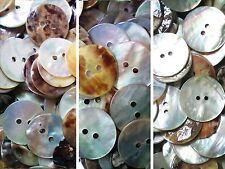 18mm 20mm 28mm Ivory White Pearlescent Warm Agoya Shell Natural Buttons W104-6