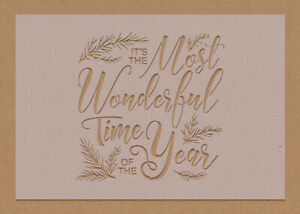 Most Wonderful Time of the Year Stencil decorations Merry Christmas Festive