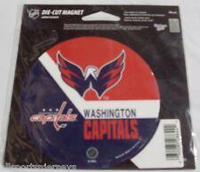 NHL 4 inch Auto Magnet Washington Capitals Logo on Round Stick Style