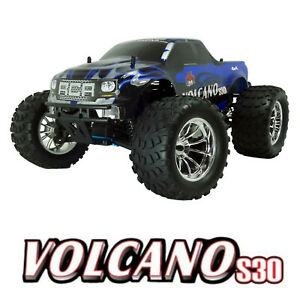 Redcat Racing Volcano S30 1/10 Scale Nitro R/C 4X4 RTR Monster Truck Blue/Silver