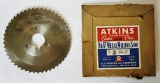 "ATKINS USA 6"" Metal Milling Saw Blade .156"" Width 1-1/4"" Hole 50 Teeth HSS"