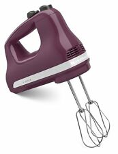 KitchenAid Asembld in USA 5-Speed Ultra Power Hand Mixer khm512by Boysenberry