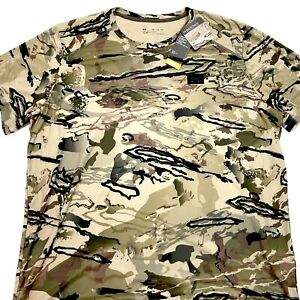 Under Armour Barren Camouflage Men's UA Iso-Chill Brush Line Short Sleeve 3XL