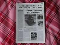 Farm and Horticultural Equipment Collector Magazine No 9 July August 1993