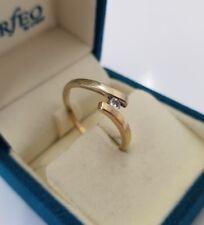 585 Gelbgold Solitär Ring Diamant/Brillant 0,08ct