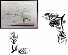 Pine Branch embossing folder Christmas Embossing Folders Darice 1218-120