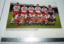 CLIPPING POSTER FOOTBALL 1987-1988 EN AVANT GUINGAMP ROUDOUROU EAG