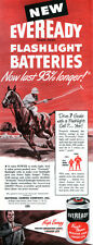 Polo Player Eveready Flashlight Batteries SPORTS 1947 Magazine Print Ad