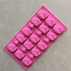 1PC Hello Kitty Silicone Mould Chocolate Fondant Mold Ice Tray Cake Baking