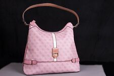 GUESS Manda Womens Monogram Handbag Pink 100% PVC SG388702