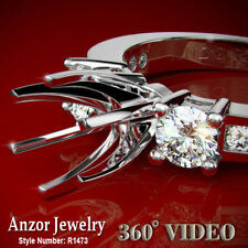 .55 CWT Diamond Engagement Ring Semi-Mount  in 950 Platinum   US sizes 4 to 9.5