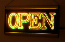 SUPER BRIGHT ANIMATED Yellow & Green LED OPEN SIGN Y/G