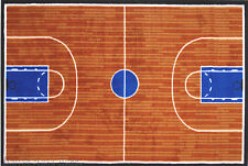 3x5 Sport Area Rug Basketball Court Basketball  NBA Team Fan New w Non Skid Back