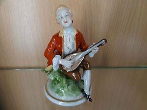 Porzellanfigur Lautenspieler Unterweissbacher Werkstätten für Porzellankunst
